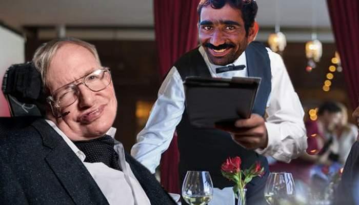 Stephen Hawking, pe locul 2 în topul inteligenţei, imediat sub chelnerul din Mamaia care l-a făcut la notă