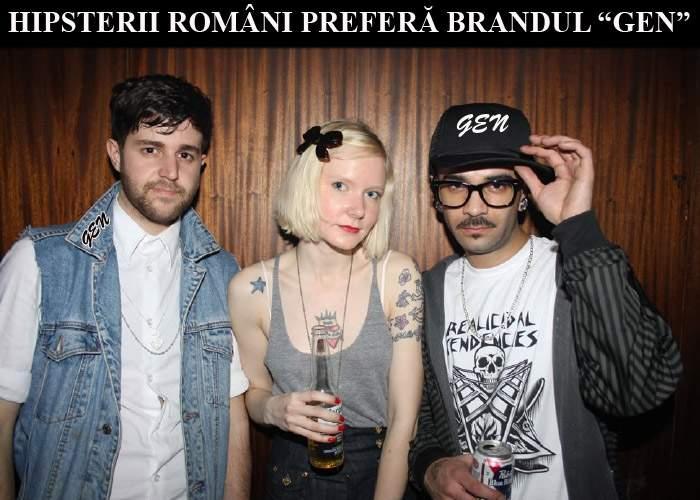 """""""Gen"""" a fost desemnat cel mai popular brand printre hipsterii români"""