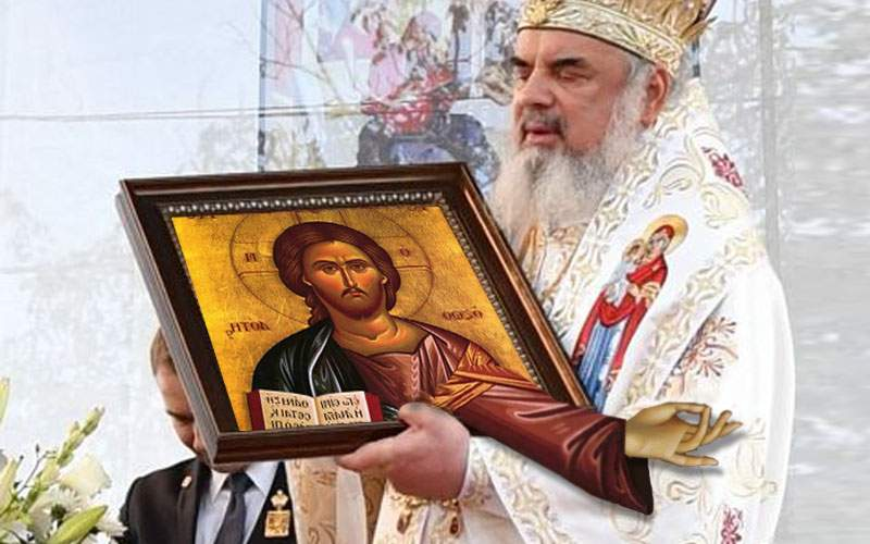 Patriarhul a adus în Catedrală și icoana care plânge după bani, preferata lui