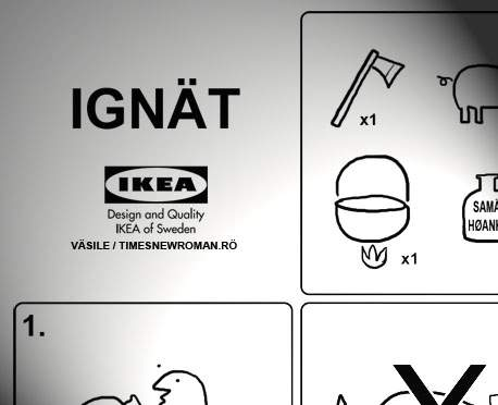 Poza zilei! Instrucţiuni simple pentru tăierea porcului de la IKEA