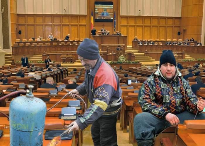 Aşa da Ignat! Sute de oameni au venit la Palatul Parlamentului, cu arzătoare, butelii şi cuţite