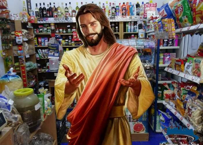 Iisus, din nou pe Pământ. L-a trimis Taică-Su să Îi ia nişte ţigări