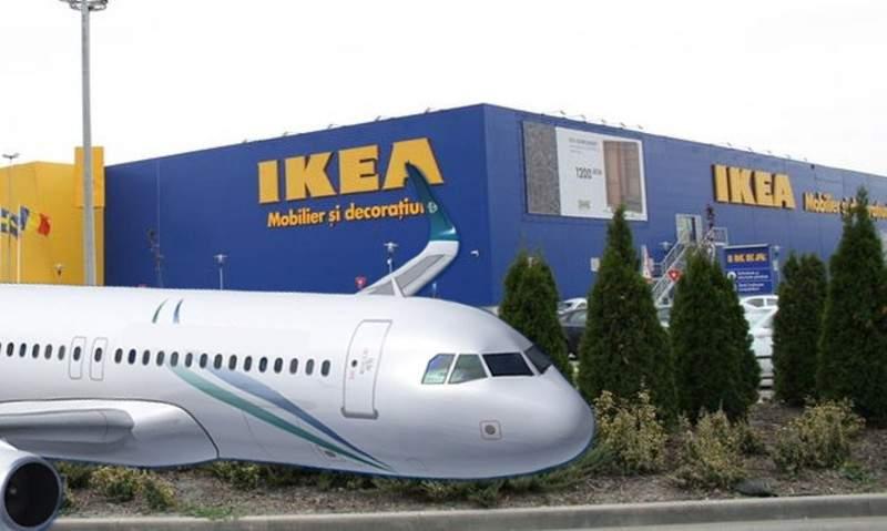 Un avion Tarom a aterizat pe Splaiul Unirii, că s-a orientat după magazinul Ikea greşit