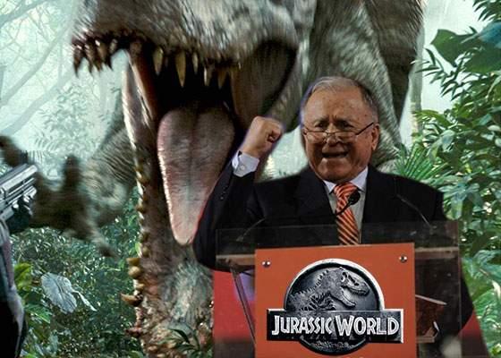 Inspirat de succesul Jurassic World, Ion Iliescu a prins curaj și vrea să refacă FSN-ul