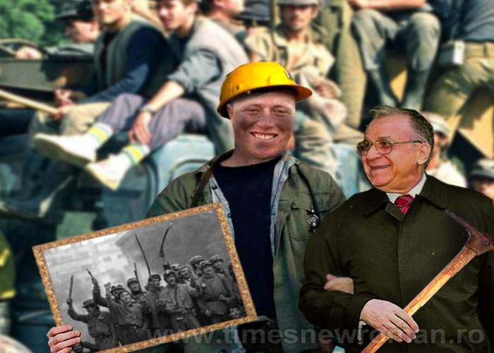 Foto! Inspirat de Ponta, Ion Iliescu s-a pozat de ziua lui cu un personaj îndrăgit: minerul Ghiţă