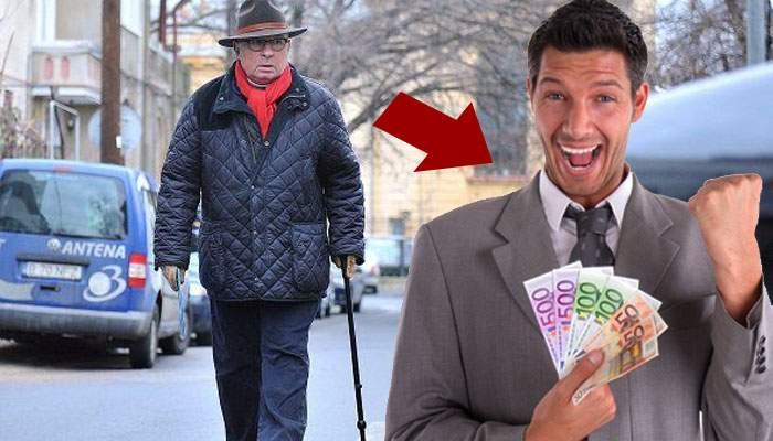 Un român a făcut 100.000 de euro doar urmărindu-l pe medicul Lucan şi adunând banii care îi cădeau din buzunare