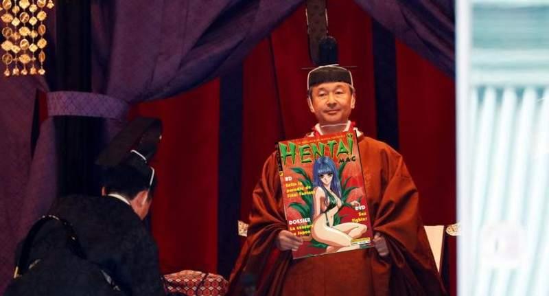 Naruhito, oficial împăratul Japoniei. A preluat colecţia de manga şi hentai a tatălui său