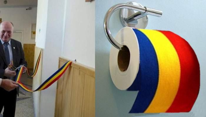 Culisele inaugurării toaletei din Piatra Neamţ. Copiii n-au primit şi hârtie, aşa că s-au şters cu panglica tăiată de primar