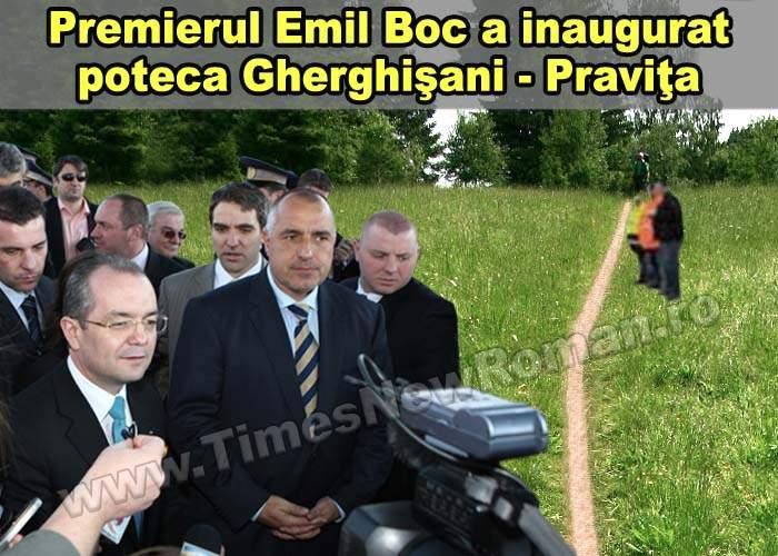 Premierul Emil Boc a inaugurat un tronson de potecă bătătorită