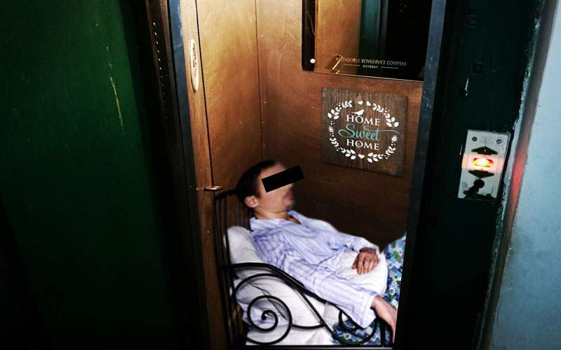În Cluj un student a închiriat liftul unui bloc, că n-are bani de garsonieră