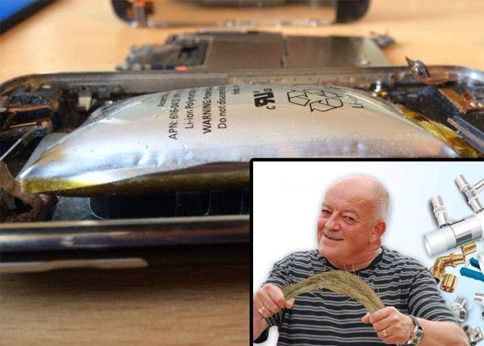 Un instalator are soluţia la problemele iPhone 8: dacă înveleşti bateria cu câlţi, nu se mai umflă!