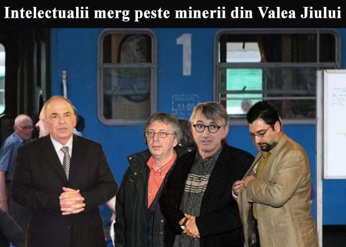 Băsescu a trimis două trenuri cu intelectuali ca să disperseze minerii din Valea Jiului