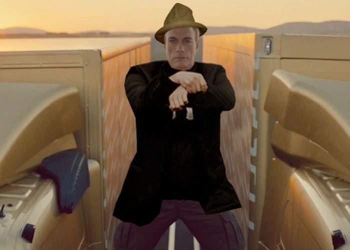 Clipul care a blocat internetul! Van Damme dansează Gangnam Style în şpagat pe melodia Happy