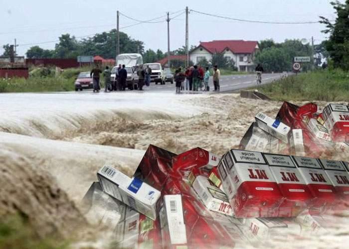 Furtuna face ravagii şi în est: vântul a aruncat mii de tone de ţigări de contrabandă înapoi în Republica Moldova