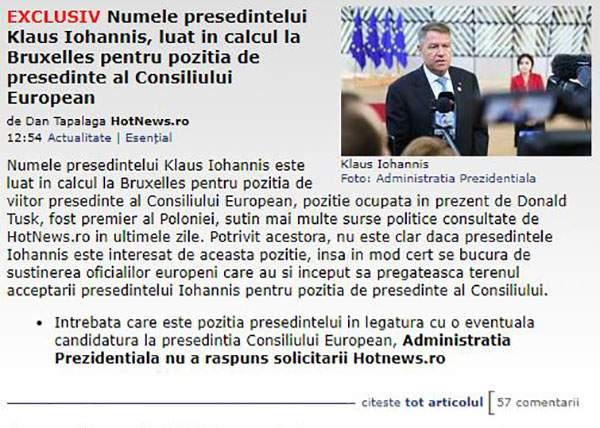 E groasă! Până şi preşedintele Iohannis a primit ofertă de job în străinătate