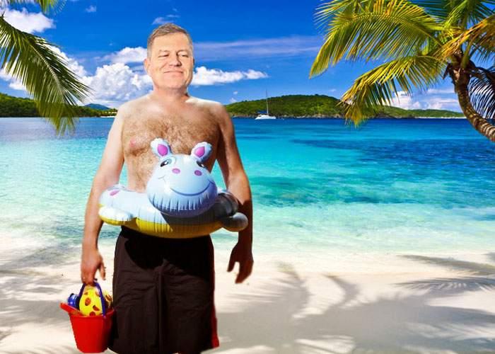 """Iohannis explică: """"Ce dacă m-am dus la schi? Unde era să mă duc, la plajă?"""""""