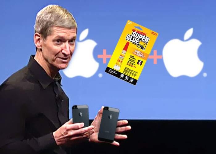 """Apple are soluția: """"Dacă cumperi două telefoane și le lipești, iPhone 6 nu se mai îndoaie"""""""