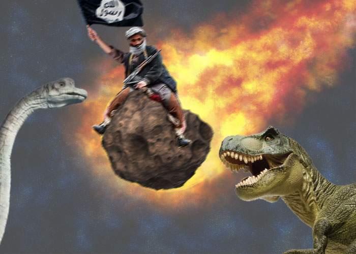 Au mers prea departe? Statul Islamic a revendicat meteoritul care a dus la dispariția dinozaurilor