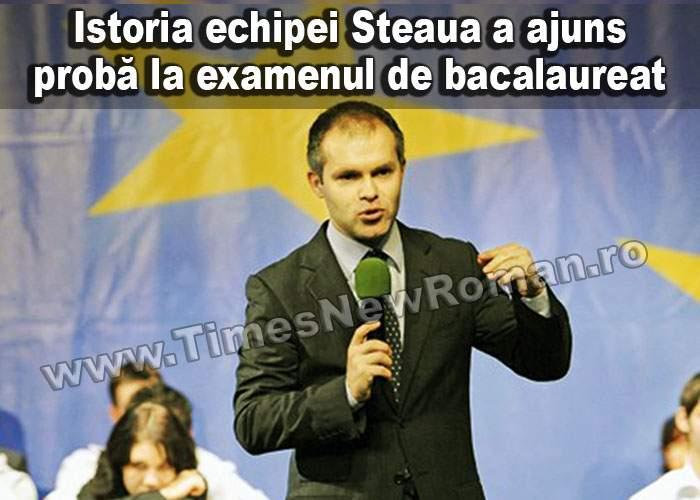 Istoria echipei Steaua, probă la examenul de Bacalaureat
