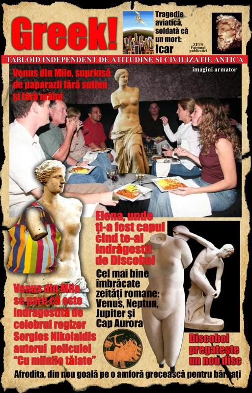 Istoria tabloidului: epoca greco-romană