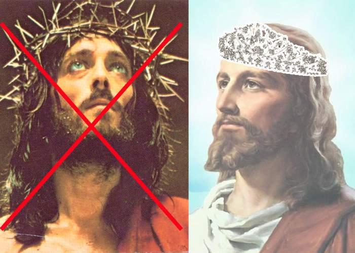 Anul acesta Isus a optat pentru o coroană de spini cu cristale Svarowski!