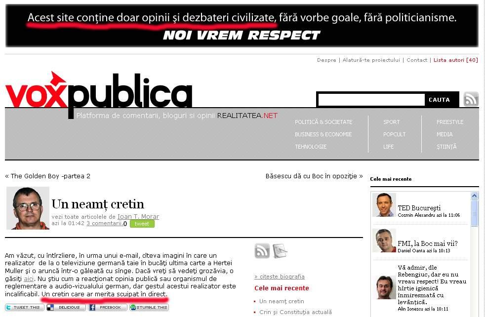 Realitatea.net a civilizat flegma