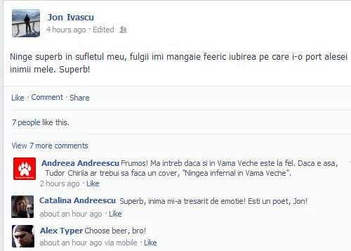 Ninsoarea le-a luat minţile utilizatorilor Facebook! Mulţi au ajuns să posteze că le ninge în casă