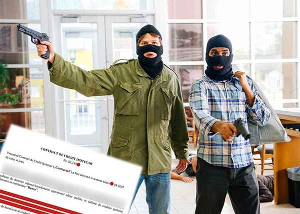 Jaf cumplit la o bancă! Un român a plecat dintr-o sucursală cu un credit pe 20 de ani, cu DAE 80%