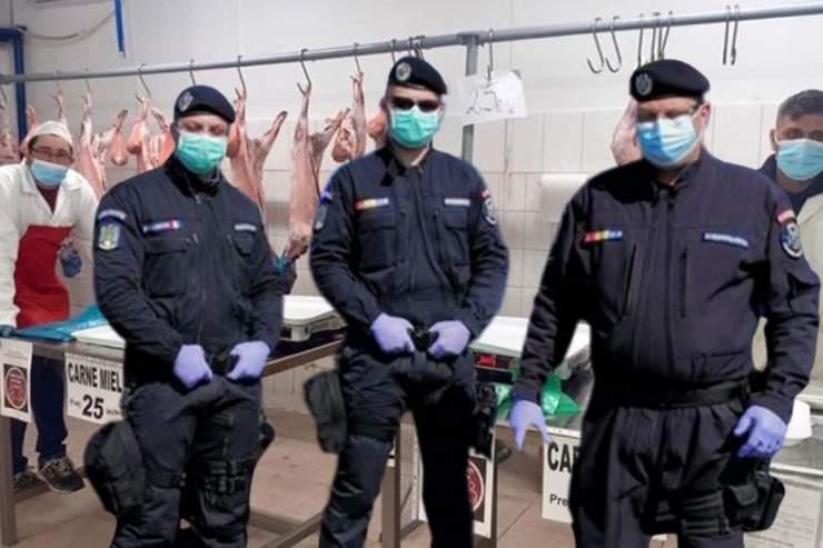 Haos în piața Obor! Jandarmii au intervenit și au cumpărat ei toată carnea de miel
