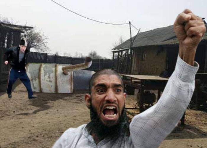 Atentat terorist în Vaslui! Un radical islamist a răsturnat cazanul cu țuică și a fugit