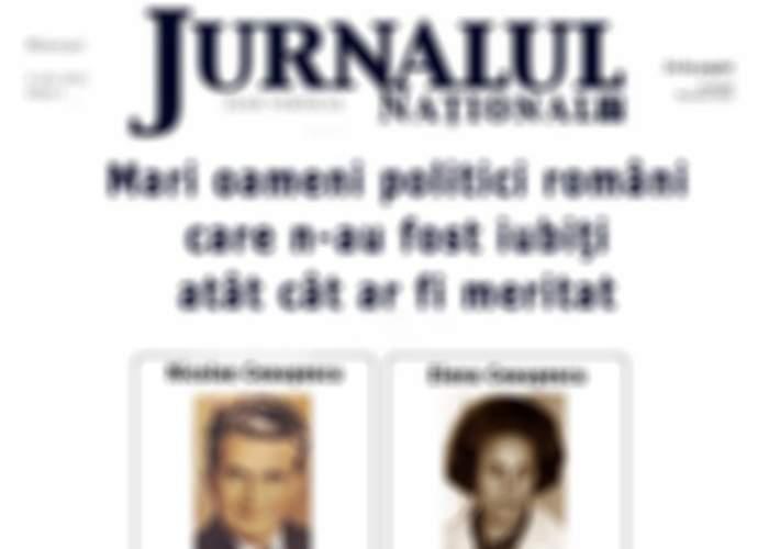 Exclusiv! Cum va arăta coperta Jurnalului Naţional de mâine