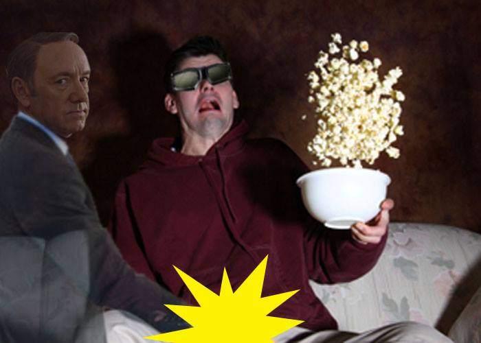 Un bărbat susţine că se uita la un film 3D cu Kevin Spacey şi actorul i-a pus mâna pe penis prin ecran
