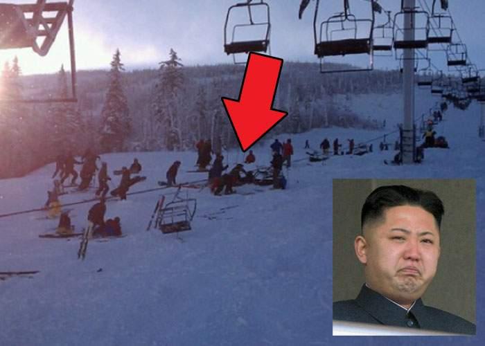 Coreea de Nord a încercat să organizeze şi ea o Olimpiadă de iarnă, dar s-a rupt telescaunul cu Kim Jong-Un