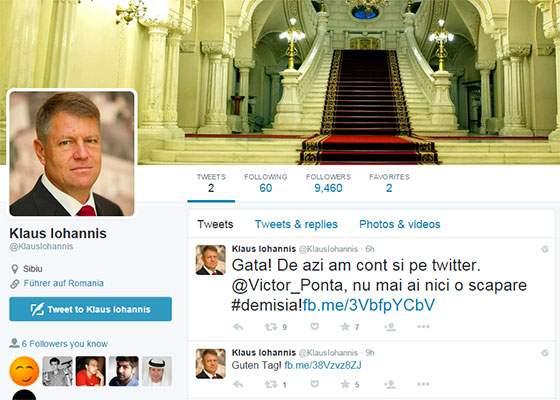 Lupta dintre palate se ascute! Iohannis a început să-l atace pe Ponta și de pe contul de twitter