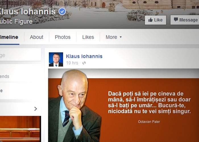 Disperare totală! Iohannis a pus pe Facebook un citat din Paler, ca să-şi recupereze like-urile