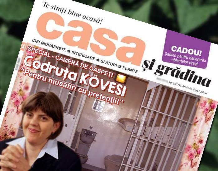 Kövesi și-a renovat casa. Camera de oaspeți are acum gratii și e dotată cu pat, chiuvetă și vas WC
