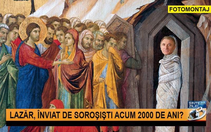 Antena 3, delir total: Augustin Lazăr ar fi acel Lazăr care a înviat acum 2000 de ani