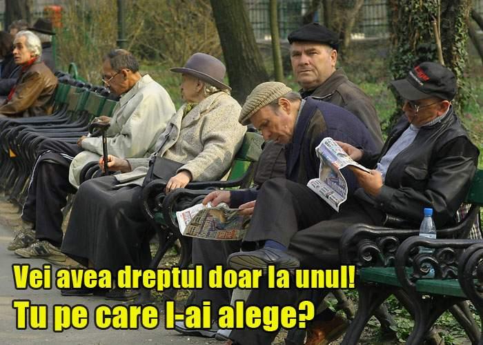 Proiect de lege: fiecare familie va avea dreptul la un singur pensionar