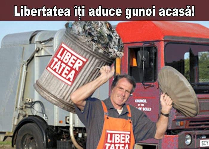 """Campanie total neispirată a unui tabloid: """"Libertatea îți aduce gunoiul acasă!"""""""