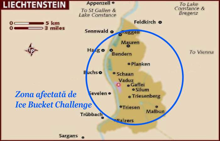 Liechtenstein, inundat complet după ce un locuitor inconştient a participat la Ice Bucket Challenge