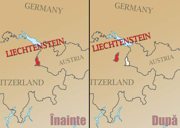 Liechtensteinul a fost smuls de vânt şi aruncat în curtea unui elveţian