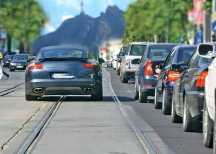 Pe DN1 va fi făcută o linie de tramvai, ca să poată şmecherii să se bage în faţă