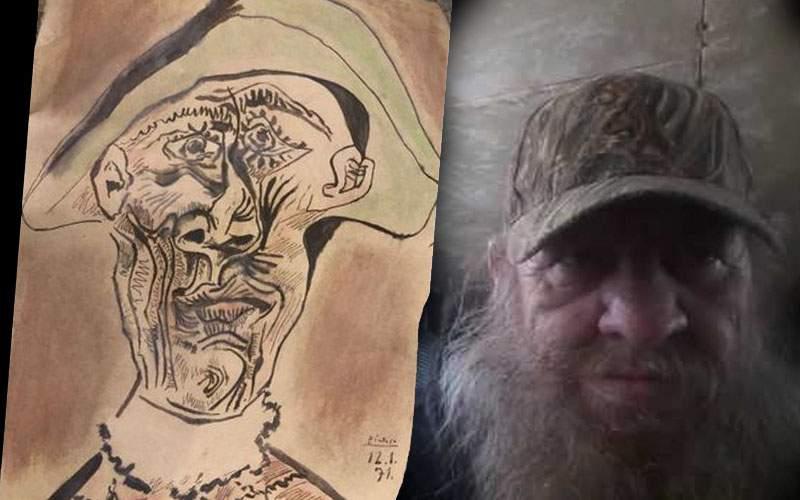 Alarmă falsă! Tabloul de Picasso găsit la Tulcea sub un copac era doar un lipovean beat