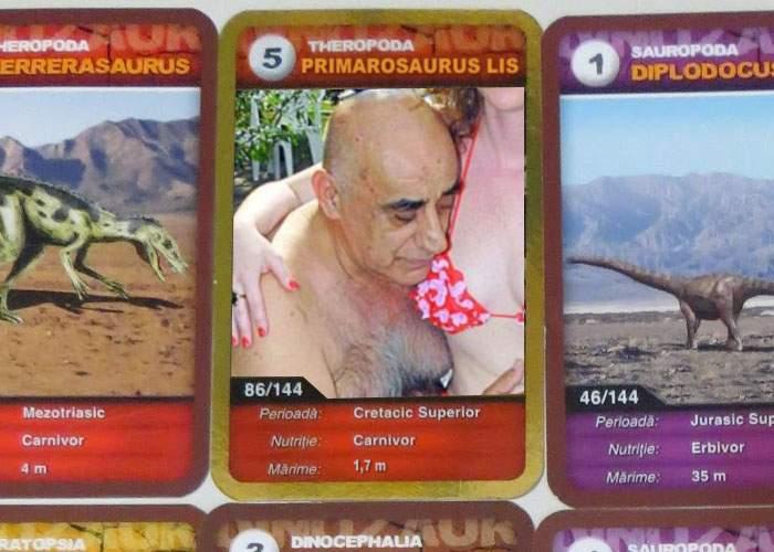 Cartonul cu Viorel Lis, cel mai căutat în colecţia de dinozauri Mega Image