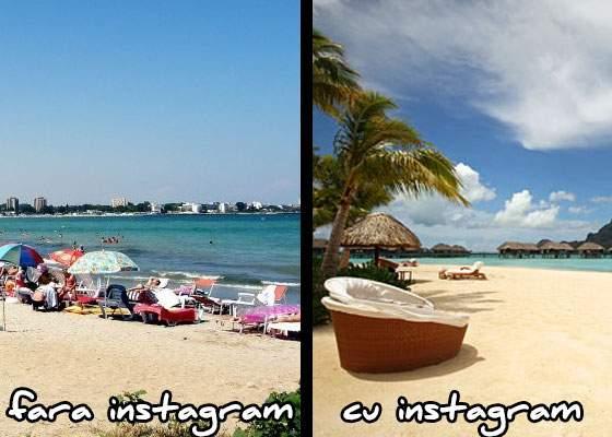 Util! A apărut un filtru de instagram care ascunde chiștoacele și cojile de semințe de pe plajă