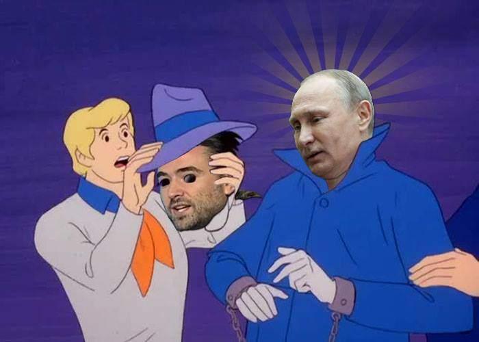 Deputatul Pleşoianu, prins de gaşca lui Scooby Doo. I-au dat faţa jos şi-au descoperit că e Putin!