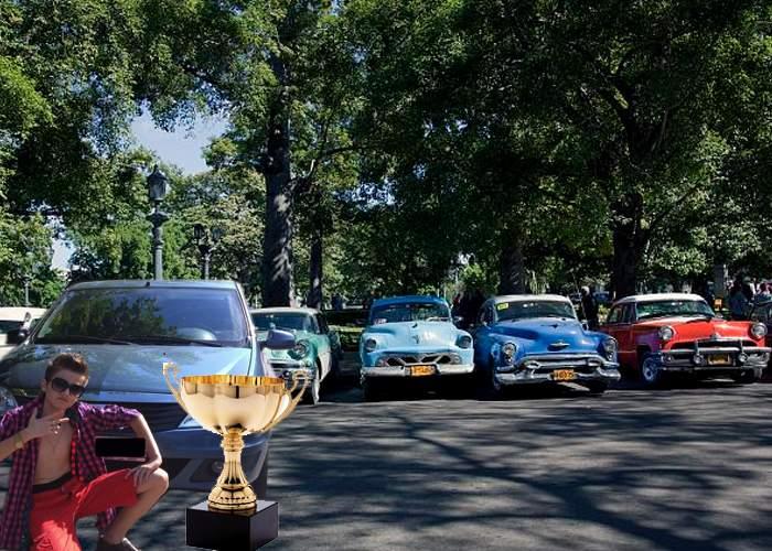 Surpriză la Salonul Auto Retro-Mobil din Bucureşti: A câştigat un Logan fabricat în 2014
