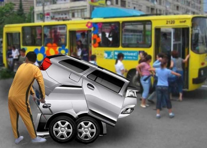 Revoluţionar! Dacia lansează Loganul pliabil, care poate fi luat în metrou sau autobuz