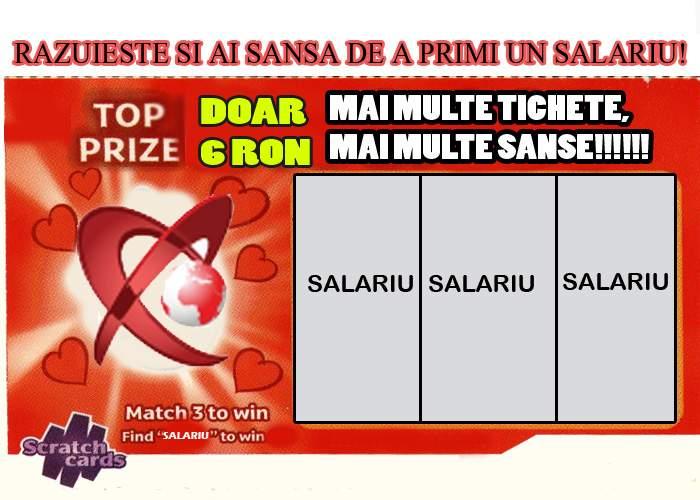 Realitatea TV organizează Loteria Salariilor, cu bilete răzuibile care costă doar 6 lei