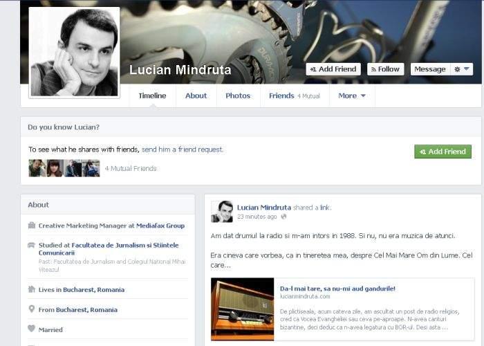 Avem o Constituţie înapoiată! Nu conţine nici o postare făcută de Lucian Mîndruţă pe Facebook